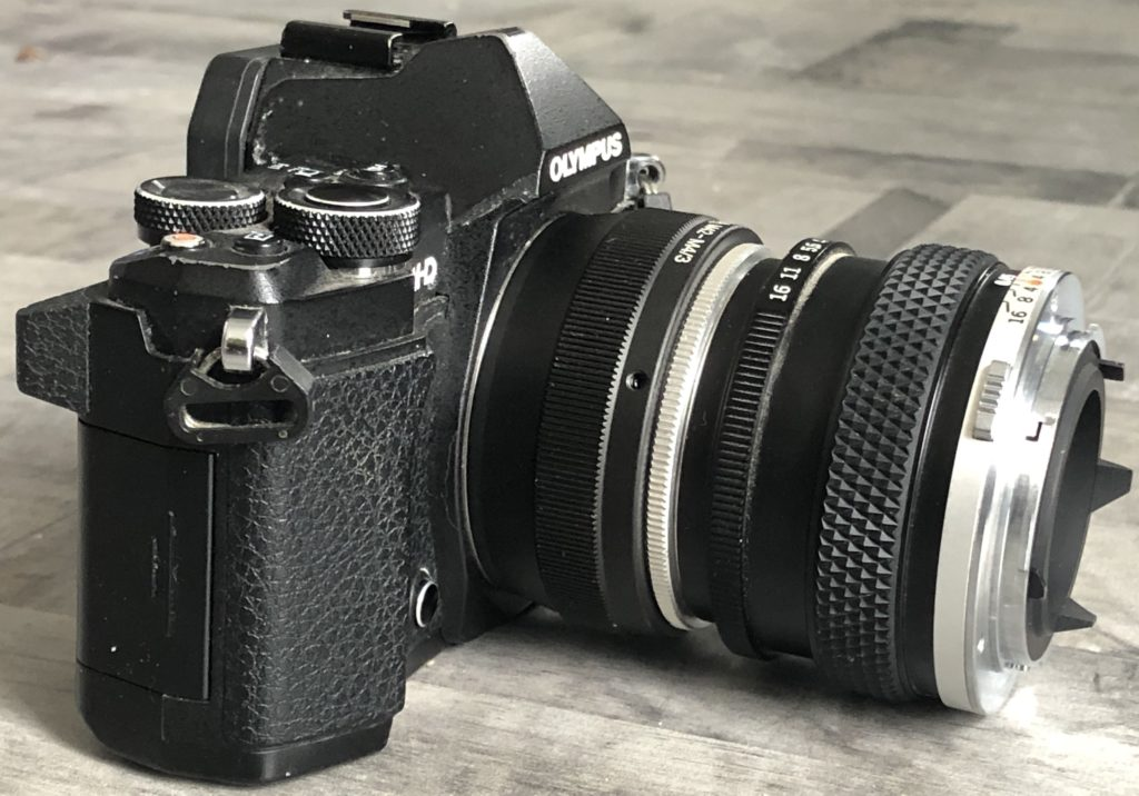 Olympus lens reversed