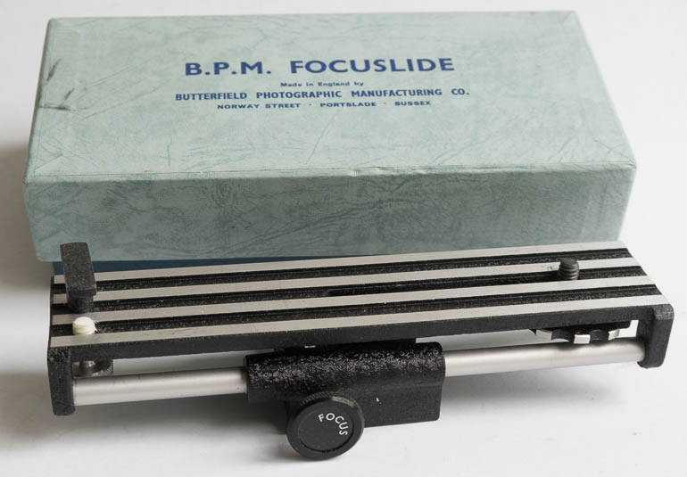 BPM Focuslide - Macro Focusing Rail (boxed) (Bellows Accessory) £45.00
