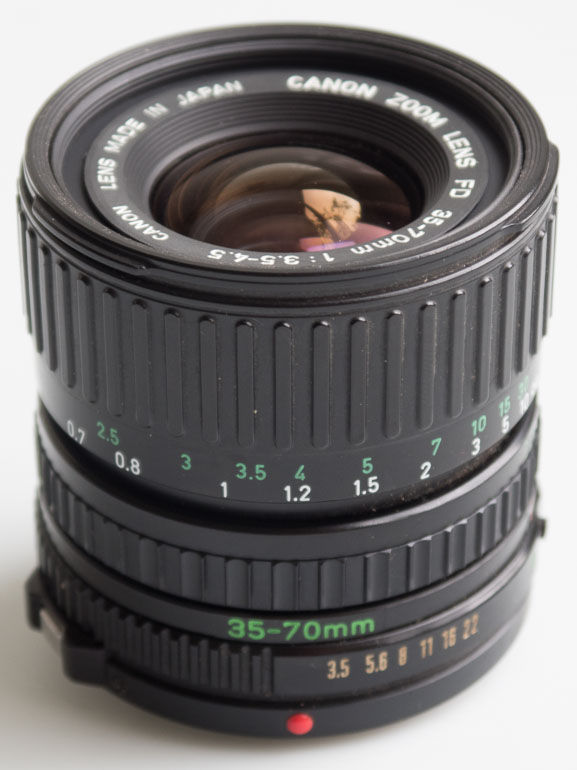 Canon 35-70mm f/3.5-4.5 FD (35mm interchangeable lens) £25.00