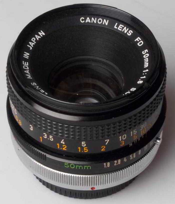 Canon 50mm f/1.8  FD (35mm interchangeable lens) £30.00
