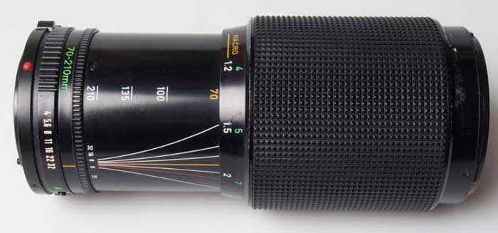 Canon 70-210mm f/4 FD zoom (35mm interchangeable lens) £35.00