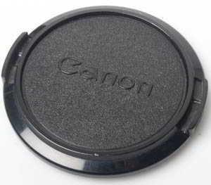 Canon 55mm FD clip on plastic Front Lens Cap