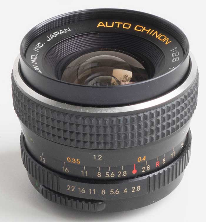 Chinon 28mm f/2.8 wide-angle (35mm interchangeable lens) £20.00