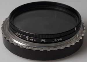 Hoya 55mm polarising Filter