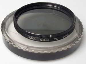 Hoya 58mm polarising Filter