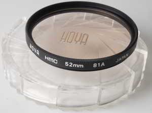 Hoya 52mm HMC 81A warm Filter