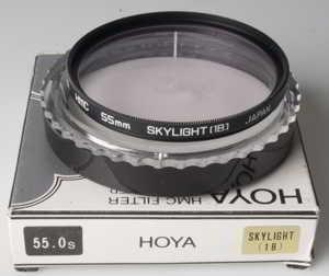 Hoya 55mm HMC Skylight 1B Filter