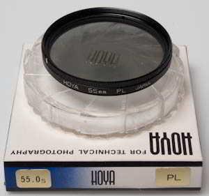 Hoya 55mm polarising boxed Filter