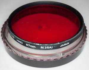 Hoya 67mm HMC R 25A red Filter