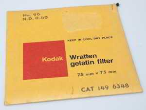 Kodak Wratten 96 ND 0.40 gelatin filter 75mm square  (Filter) £35.00