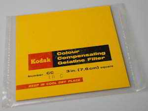 Kodak Wratten CC10C Cyan  gelatin filter 75mm square  (Filter) £6.00