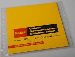 Kodak Wratten CC20C Cyan  gelatin filter 75mm square  (Filter) £6.00