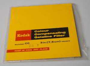 Kodak Wratten CC20Y Yellow  gelatin filter 75mm square  (Filter) £3.00