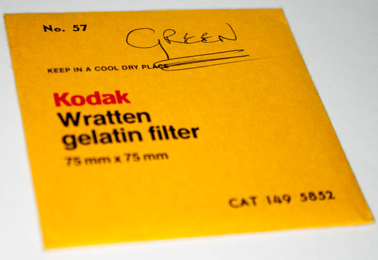 Kodak Wratten 57 Green  gelatin filter 75mm square  (Filter) £8.00
