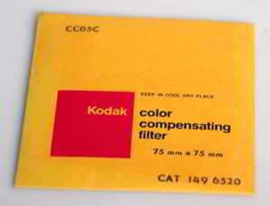 Kodak Wratten CC05C Cyan  gelatin filter 75mm square  (Filter) £6.00