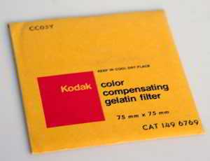 Kodak Wratten CC05Y Yellow  gelatin filter 75mm square  (Filter) £6.00