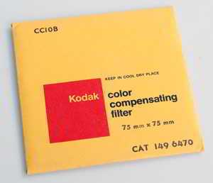 Kodak Wratten CC10B Blue  gelatin filter 75mm square  (Filter) £6.00