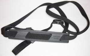 Minolta narrow SLR strap with gripping shoulder pad (Camera strap) £4.00