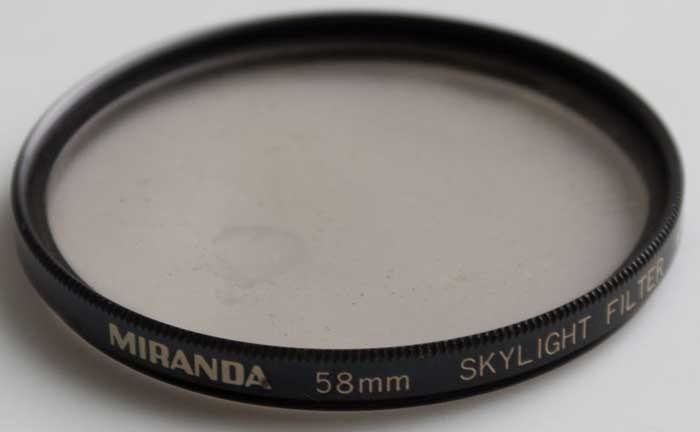 Miranda 58mm Skylight (Filter) £5.00