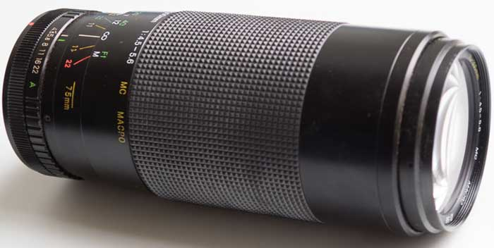 Miranda 75-300mm f/4.5-5.6 Macro Zoom Canon FD Mount (35mm interchangeable lens) £30.00