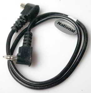 National 12in Straight cable extension (Flash cable) £3.00