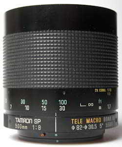 Tamron 500mm f/8 SP Mirror 55BB  (35mm interchangeable lens) £160.00