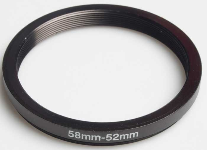 Unbranded 58-52mm (Stepping ring) £2.00