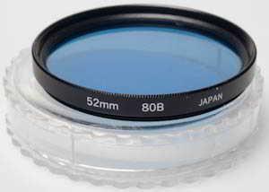 Vivitar 52mm 80B Blue Filter