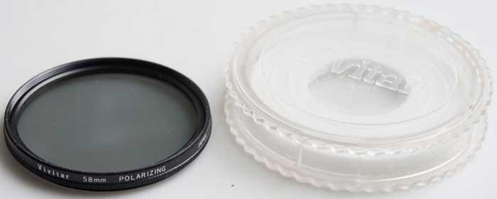 Vivitar 58mm Linear polarising Filter