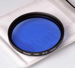 Vivitar 55mm 80B Blue Filter